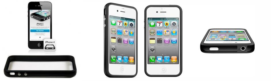 Protectie pentru iPhone 4 - Bumper - Black