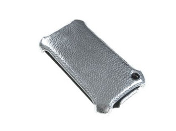 Turtle Brand Leather Case for iPhone 3G 3GS silver