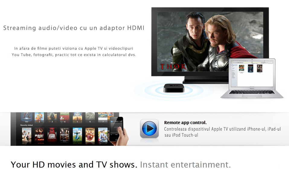 Apple TV, resoftare, upgrade, instalare aplicatii, service, reparatii