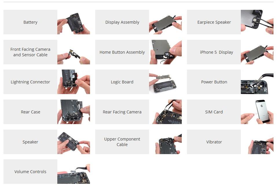 Reparatii componente iPhone 5S