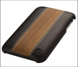 Leather Case for iPhone 3G - 3GS brown bulk