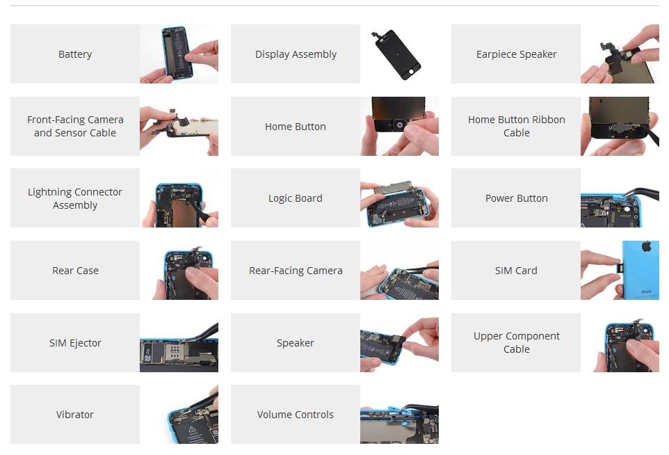 Reparatii iPhone 5C componente