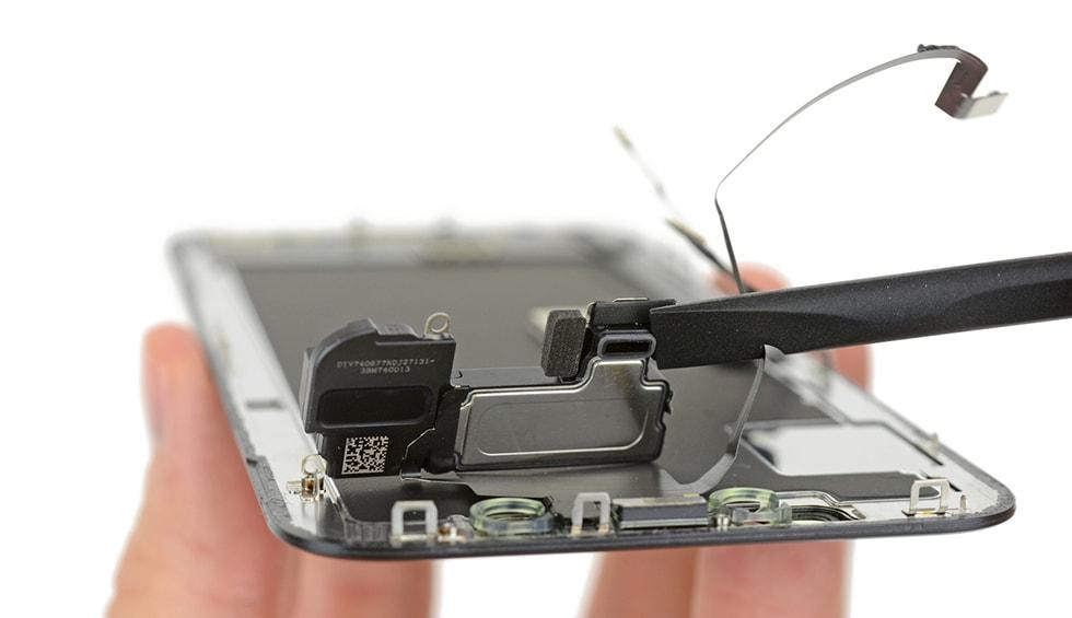 Service iPhone X - Reparatii difuzor - difuzor pentru boxa, nou reproiectat pentru a canaliza sunetul in afara ecranului